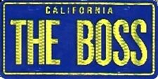 SET OF 4 CALIFORNIA THE BOSS PRISMATIC DECAL STICKER 3X6 INCH #8