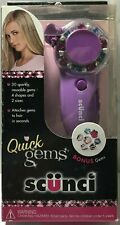 CONAIR SCUNCI Quick Gems Hair Jewelry Kit 30 Sparkly Reusable Gems 4 Shapes