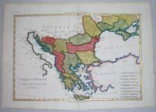 1787 NICE ORIGINAL MAP SERBIA GREECE ROMANIA BULGARIA MOLDOVA UKRAINE CRIMEA