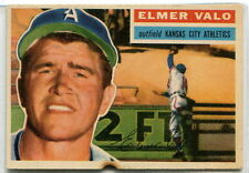 1956 Topps Baseball: #3 Elmer ValoKansas City Athletics PR White Back