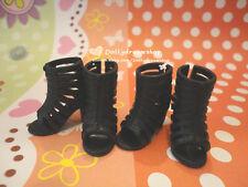 Doll shoes~ LIV Doll Roman Style Black color Heel Sandal shoes 2PAIRS SET#LS-707