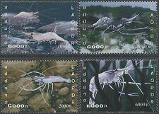 LAOS N°1622/1625** Crustacés, crevettes, 2006 Shrimps Sc#1689-1692 MNH