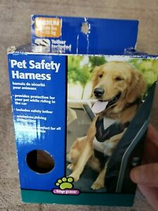Medium Pet Safety Car Harness with Tether NWT