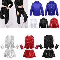 Boys Girls Hip Hop Dance Costume Jazz Street Dancing Clothes Dancewear Unisex