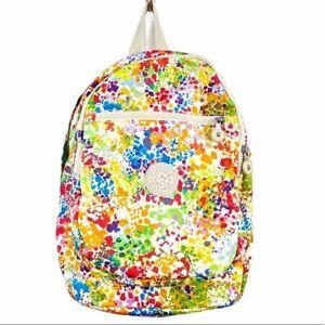 Kipling Challenger Paint Splatter Print Backpack NO MONKEY - MEDIUM SIZE