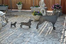 Arredamento giardino ferro battuto artigianale scultura animali cane gallina
