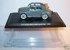 MINIATURE CAR ELIGOR PRESSE RENAULT 4CV BERLINE DECOUVRABLE TYPE R 1062 1953 BOX