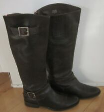 Matisse Women Knee High Betty Brown Leather Riding Boots 7 M