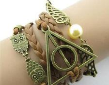 Multilayer Greek Bracelet Owl, Delta Phi + Wings of Love Charms - Gift Idea