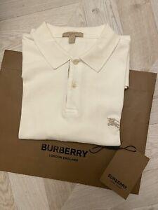 Burberry Brit Men's White Polo Shirt - Size large RRP £160