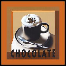 Herbert agarra chocolate póster imagen son impresiones artísticas con marco de aluminio en negro 60x60cm