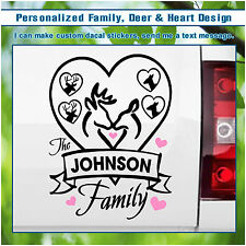 Personalized Family Name & Deer Antlers Rack Vinyl Wall Hunting Decor Decal S133