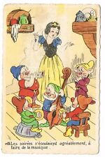 CPA BLANCHE NEIGE ET LES 7 NAINS N° 15