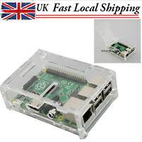 Acrylic Clear Transparent Computer Enclosure Box Case fr Raspberry Pi 2 Model B+