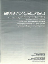 Yamaha AX-590 AX-490 User Manual / BDA Bedienungsanleitung / Mode d'emploi