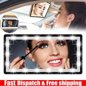 60LED 3Light Modes Car Sun Visor Vanity Mirror Touch Sensor USB Power Detachable
