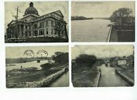 LOT of 4 B&W 1908-09 Divided Norristown Pennsylvania Postcards