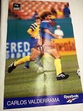 Vintage Reebok Carlos Valderrama Advertising Soccer Poster 1994