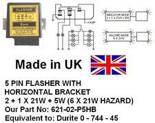 24V 5 PIN HAZARD FLASHER, Equivalent: 0 744 45. 2 + 1 X 21W +5W (6 x 21W Hazard)