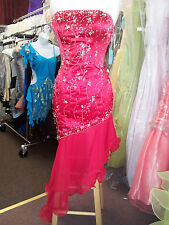 PF Red Beaded Prom Evening Special Occasion Dance Dress #20092 S: 8