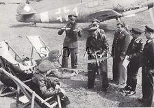 WWII Ger Large (9.25x7.25) Press Photo Image- Rumania- Pilots- Airplane ME 109