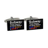 New York Subway Times Square Cufflinks Cuff Links New
