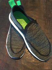 Sanuk Chiba Quest Knit Olive Green/Black Slip On Shoes Sneakers 1091090 NEW W T