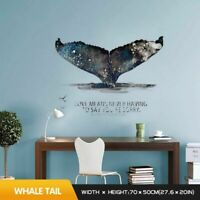 Wall Sticker 3d Stereo Whale Tail Stickers Bedroom Living Room Decoration Home