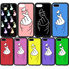 Finger heart hand K-pop Korea Phone Case For iPhone 11Pro Max Samsung Note Cover