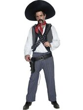 ADULT MENS AUTHENTIC WESTERN MEXICAN BANDIT COSTUME COWBOYS FANCY DRESS - MEDIUM
