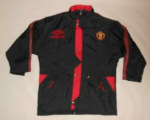 JACKET BENCH COAT UMBRO MANCHESTER UNITED 1992-93 (XL) Shirt Tracksuit Track Top