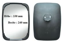 Außenspiegel passend für Neuson - JCB - John Deere - TCM -  330x240 ø14-30 24V