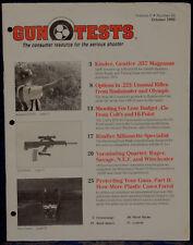 Magazine GUN TESTS October 1993 !! TAURUS Model 669CP .357 Magnum DA REVOLVER !!