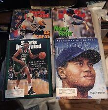 Vintage Sports Illustrated Lot (4) 89-96 Lemieux Sandberg Tiger Woods Reggie