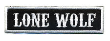 Lone Wolf patch badge car club motorcycle biker MC vest jacket black white