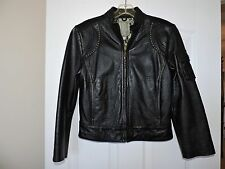 Rare Wilson's Studded Genuine Leather Rock And Roll Fashion Jacket  XSmall