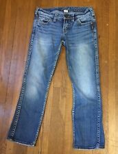 Women's Silver Frances Capri Cropped Distressed Jeans Tag Size 26 Inseam 25