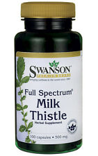 MILK THISTLE  LIVER HEALTH DETOX SILYMARIN  100 CAPS 500mg SWANSON