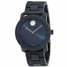 Movado Bold Blue Dial Tr90 & Stainless Steel Men's Watch 3600444
