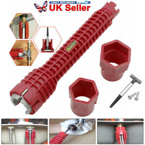8 In 1 Multifunction Sink Basin Faucet Wrench Sink Install Tool Tap Spanner UK-