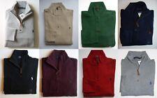 Men Polo Ralph Lauren Half Zip Sweater All Sizes Assorted Colors
