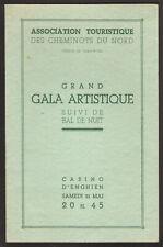 Programme. Casino d'Enghien. Grand Gala Artistique. Cheminots du Nord. vers 1930