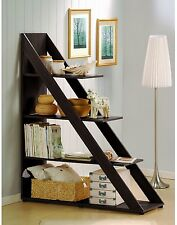 Shelving Unit, Wall Shelf Storage And/Or Room Divider, Dark Brown Triangle