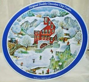 Original Double Chocolate Chip Cookie Clinton Mill Snow Tin Tray