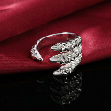 925 Sterling Silver Plated Fashion Claw Men Lady Cute Women Rings Jewelry