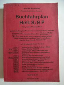 DB,Hannover,Buchfahrplan 8/9 P,Altenbeken,Paderborn,Warburg,Bielefeld, 1972