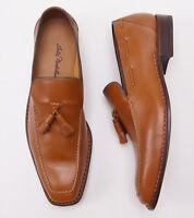 New $1295 SUTOR MANTELLASSI Norwegian Welt Tassel Loafers Shoes 10 D Norvegese