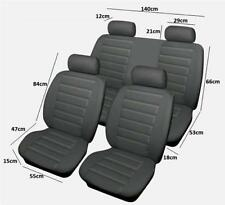 Quality Leather Look Racing Style Car Seat Covers Full Set Protectors Grey
