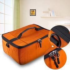 Large DSLR SLR Camera Flexible Insert Padded Parition Dividers Lens Bag Box Case
