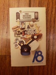 1982 Milwaukee Brewers schedule MLB baseball